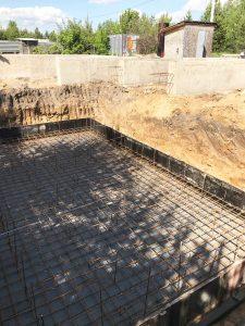 Монолитный фундамент под цокольный этаж
