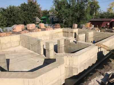Фундамент под цокольный этаж
