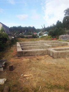Строительство частного дома - фундамент ленточный фото