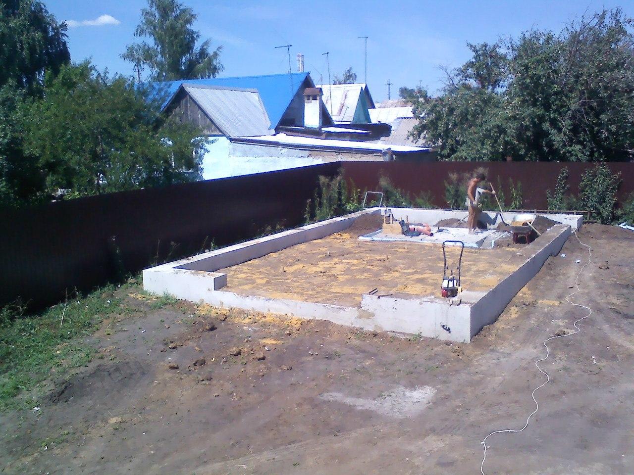 ленточный фундамент для гаража форум